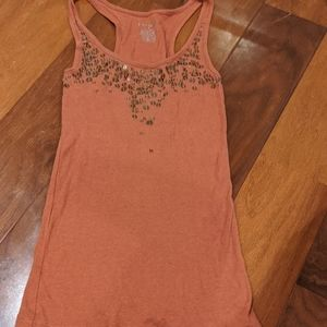 Women's burnt orange tank top
